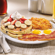 double berry banana pancake breakfast