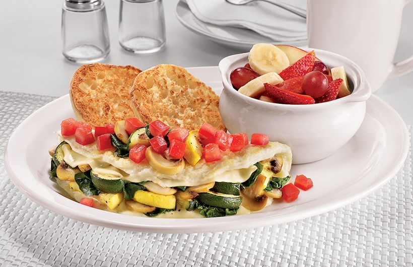 55+ fit fare® loaded veggie omelette
