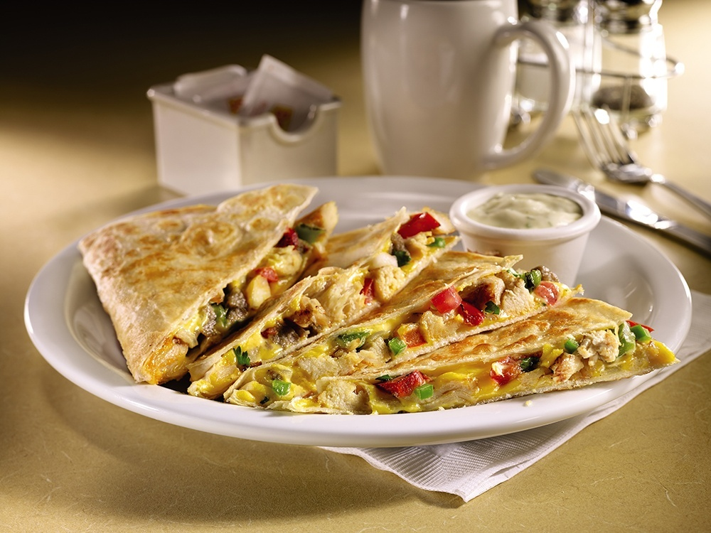 Chicken & sausage quesadilla