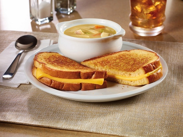 55+ grilled Cheese sandwich & soup